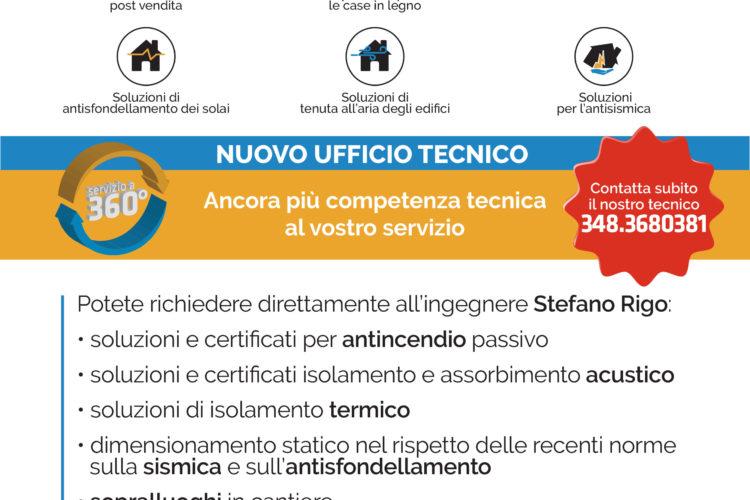 NUOVO UFFICIO TECNICO Ancora più competenza tecnica al vostro servizio